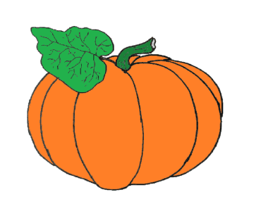 How to draw a pumpkin easy - Pumpkin drawing and coloring for kids