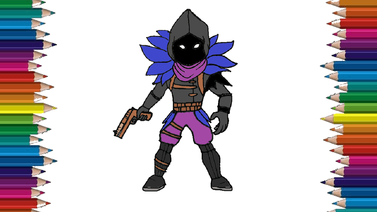 How To Draw Raven From Fortnite Step By Step For Beginners