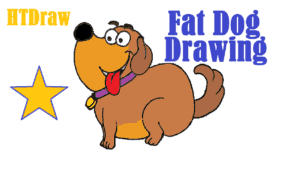 How To Draw A Cartoon Dog Fat Dog Drawing Cute And Easy