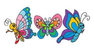 How To Draw A Butterfly Step By Step Butterfly Cartoon Drawing Easy