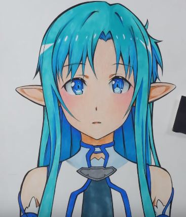 How to draw anime girl face flashcards on Tinycards | 426x367