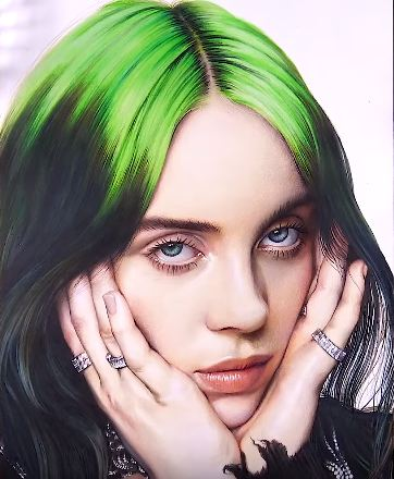 How To Draw Billie Eilish By Pencil