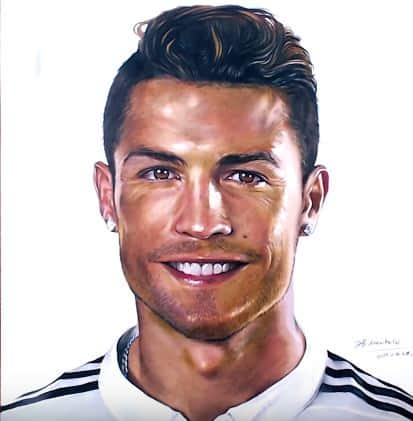 How To Draw Cristiano Ronaldo By Pencil Step By Step