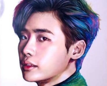 How to draw Lee Jong-suk by pencil