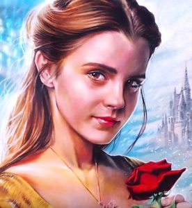 How to draw Belle from the Disney movie Beauty and the Beast