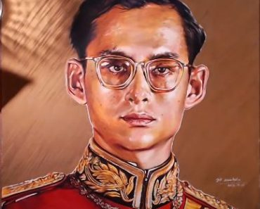How to draw Bhumibol Adulyadej by pencil