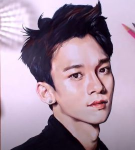How to draw Chen (Kim Jong-dae) from the K-pop boy group EXO