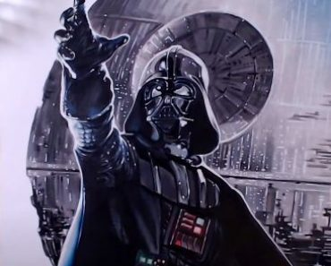 How to draw Darth Vader from the movie Star Wars