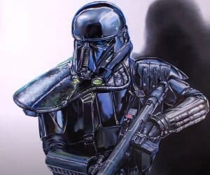 How to draw Death Trooper from Rogue One: A Star Wars Story