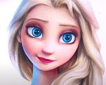 How to draw Elsa from Disney movie Frozen 2 by pencil