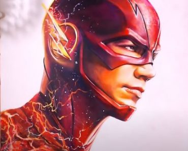 How to draw Flash(Barry Allen) from the TV series The Flash