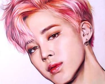 How to draw Jimin from Kpop boy group BTS