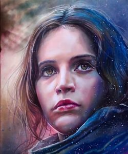 How to draw Jyn Erso(Felicity Jones) from the movie Rogue One - A Star Wars Story