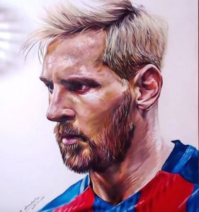 How to draw Lionel Messi by pencil