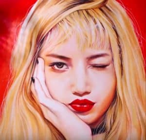 How to draw Lisa from K-pop girl group Black Pink