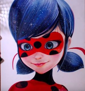 How to draw Miraculous Ladybug (Marinette) step by step