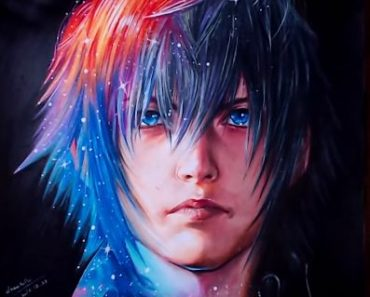 How to draw Noctis Lucis Caelum from the Final Fantasy 15