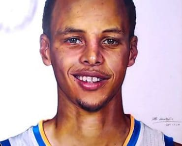 How to draw Stephen Curry by pencil - NBA