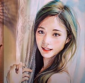 How to draw Tzuyu from the K-pop girl group Twice