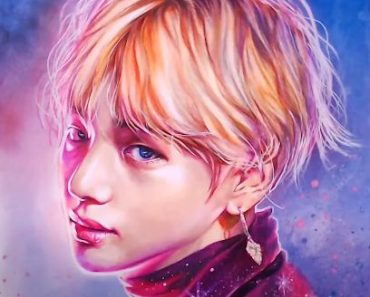How to draw V(Kim Tae-hyung) from BTS by pencil