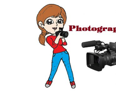How to draw a cute photographer woman