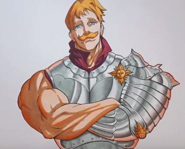 How to drawing Escanor from the seven deadly sins