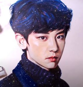 How to draw Chanyeol from the K-pop team EXO