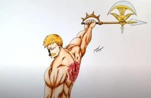 How to draw Escanor From Nanatsu No Taizai