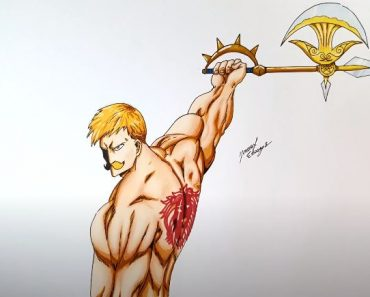 How to draw Escanor From Nanatsu No Taizai