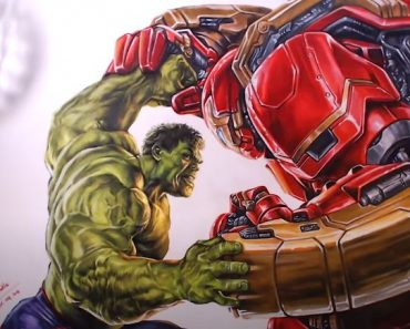 How to draw Hulk vs Hulkbuster from Avengers Age of Ultron