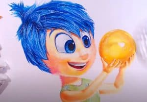 How to draw Joy from the movie Inside Out