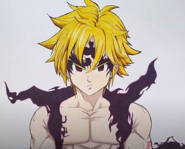 How to draw Meliodas Assault Mode From Nanatsu No Taizai