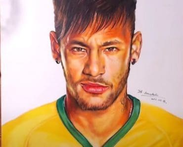 How to draw Neymar Jr step by step with pencil