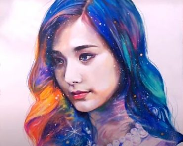 How to draw Tzuyu(Twice) with stardust by pencil