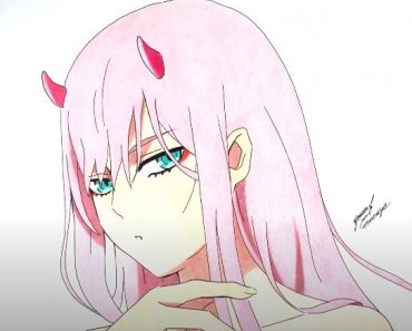 How to draw Zero Two From Darling In The Franxx