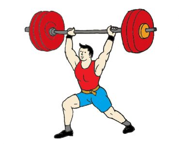 How to draw a cartoon Weightlifter athlete