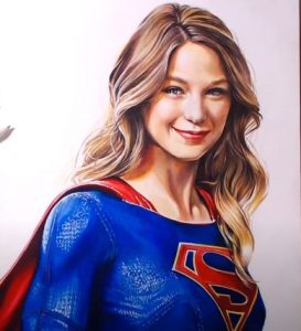 How to draw supergirl realistic by pencil