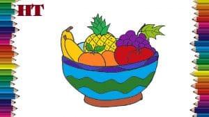 fruit bowl drawing