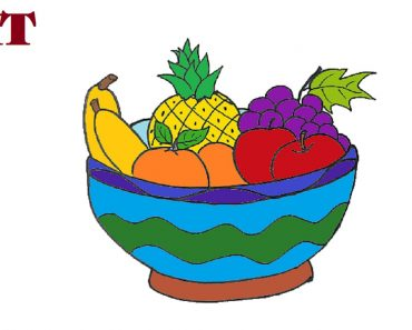 fruit bowl drawing
