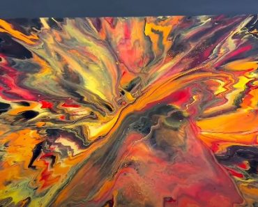 Acrylic Pour Painting! Crazy color scheme and ending ! Fluid Art