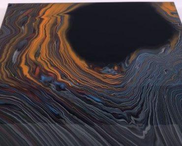 Amazing The Black Hole technique - Acrylic fluid art painting