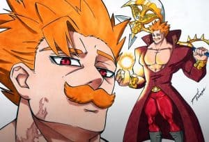 ESCANOR and BAN fusion from The Seven Deadly Sins Drawing