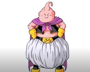 How to Draw Majin Buu from Dragon Ball Z