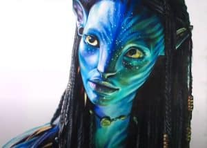 How to Draw Neytiri from AVATAR step by step