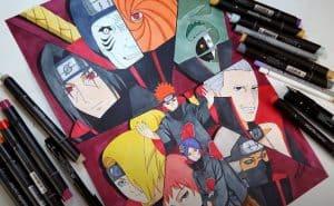 How to draw AKATSUKI Characters