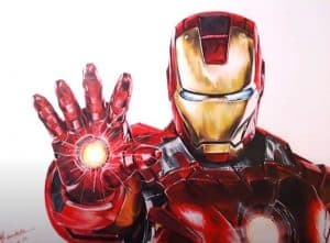 How to draw Iron Man realistic step by step