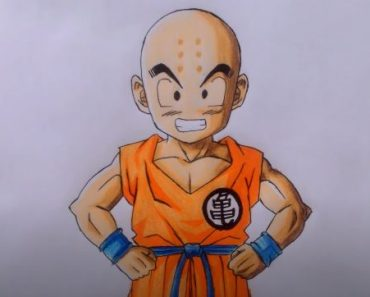 How to draw KRILLIN from DRAGON BALL Z