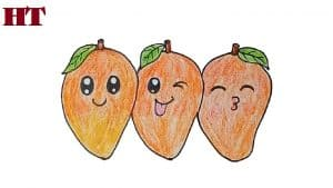 How to draw Mangoes cute and easy