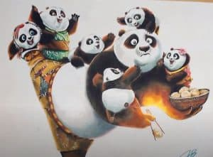 How to draw Po from Kung Fu Panda 3