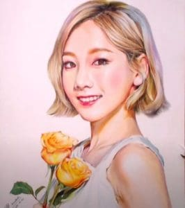 How to draw TaeYeon by pencil